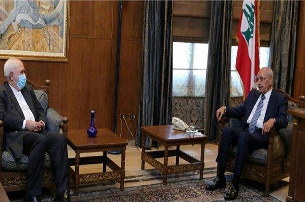 دیدار وزیر امور خارجه ایران با رئیس مجلس لبنان